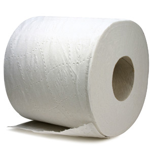 1 Ply Toilet Paper, Embossed Virgin White Toilet Paper