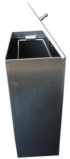 Wall Waste Bin Stainless Steel with Lid